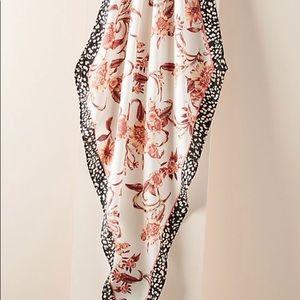 NWT Anthropologie Silk & Viscose Floral Pattern